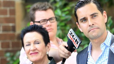 Call for an inquiry: Independent member for Sydney Alex Greenwich with Lord Mayor Clover Moore.