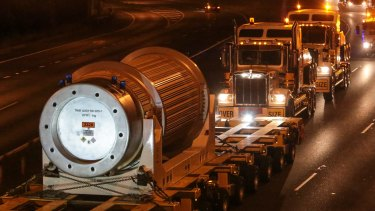 Nuclear waste is transported from Port Kembla to the ANSTO facility in Lucas Heights.