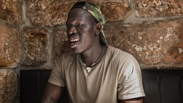 """""""I didn't pick up AFL until I was probably in year 9 ... I'd never heard of it"""": Sydney Swans player Aliir Aliir."""