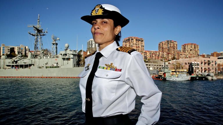 Navy Captain Mona Shindy made comments via the Twitter account @navyislamic that were at odds with government policy.