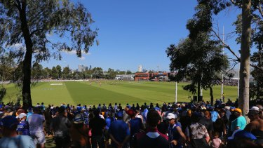 Football returned to Arden Street on Sunday when the Kangaroos played Hawthorn in a pre-season match.
