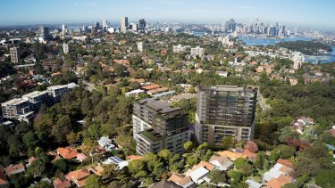 An artist's impression of a proposed development in St Leonards, where a block has been sold for $66 million.