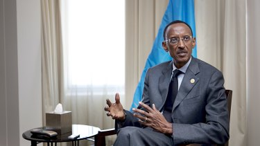 Paul Kagame, President of Rwanda, at the CHOGM Business Forum in Perth in 2011.