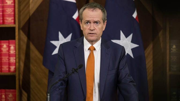Opposition Leader Bill Shorten concedes defeat in Melbourne on Sunday.