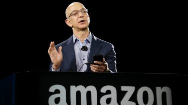 Amazon CEO Jeff Bezos: The company is advertising for hundreds of new jobs in Australia.