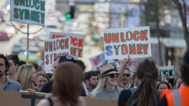 A rally was held in September to protest against the lockout laws.