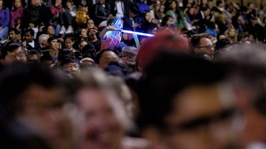 Crowds at White Night Melbourne were tipped to reach more than 600,000.