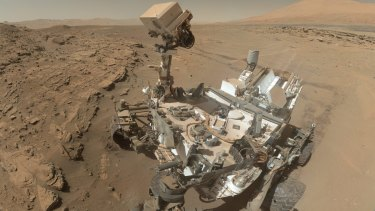NASA's Curiosity takes a self-portrait on Mars.