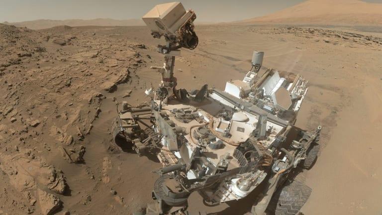 NASA's Curiosity takes a self-portrait on Mars.