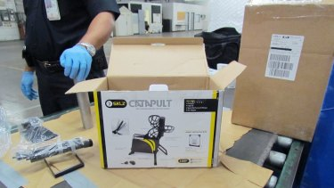 Police allege parcels of cocaine were concealed in machinery sent from the United States.