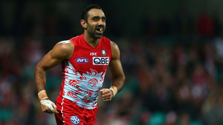Adam Goodes is a talented footballer, but he has done himself no favours by dobbing in a young spectator and gloating after a victory.