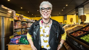 Nourishing families: Chief executive Ronni Kahn at the new OzHarvest supermarket in Sydney.