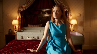 The sexually fearful Florence (Saoirse Ronan) is trapped in honeymoon torment in <i>On Chesil Beach</i>.