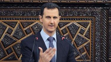 Syrian President Bashar Assad in Damascus in 2013.