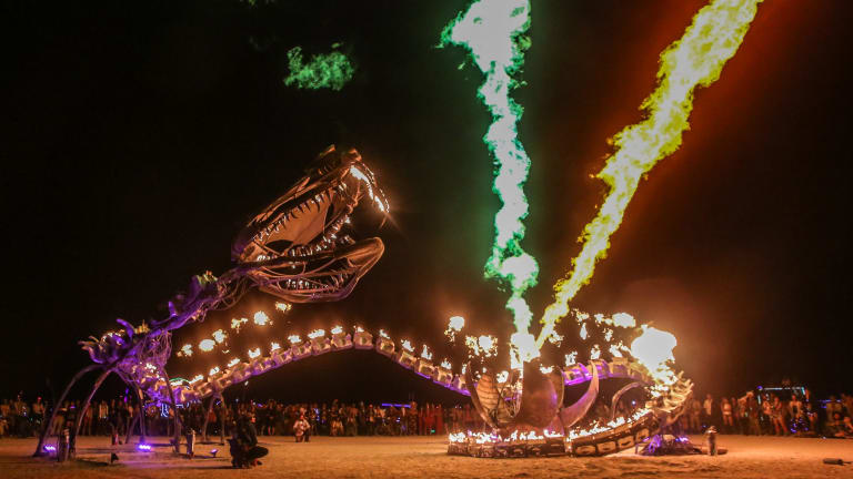 Straight from Burning Man: Serpent Mother.
