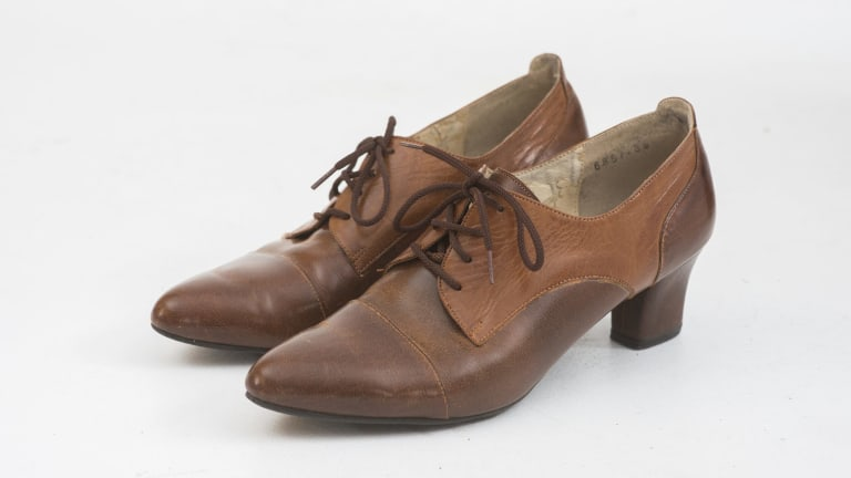 Natasha Rudra's favorite op-shop purchase: A pair of leather shoes.
