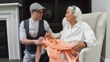 Fashion collector Tom McEvoy meets with 97-year-old former fashion designer Elvie Pelman. Elvie's label was Elvie Hill.