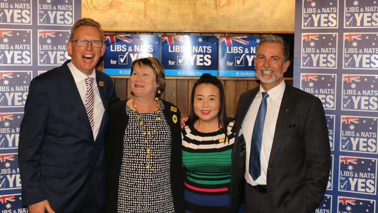 Liberals Mark Parton, Nicole Lawder, Elizabeth Lee and Jeremy Hanson at the event.