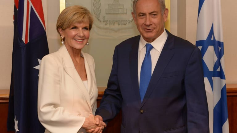 Foreign Minister Julie Bishop will have the opportunity to ask some tough questions of Israeli Prime Minister Benjamin Netanyahu.