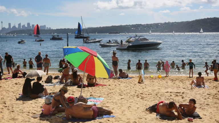 A cool change is expected at about 5pm to bring some relief after a sweltering day in Sydney.