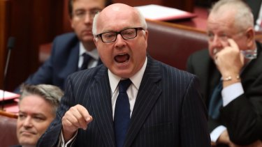 "Insists legislation contained ""strengthened safeguards"": Senator George Brandis."