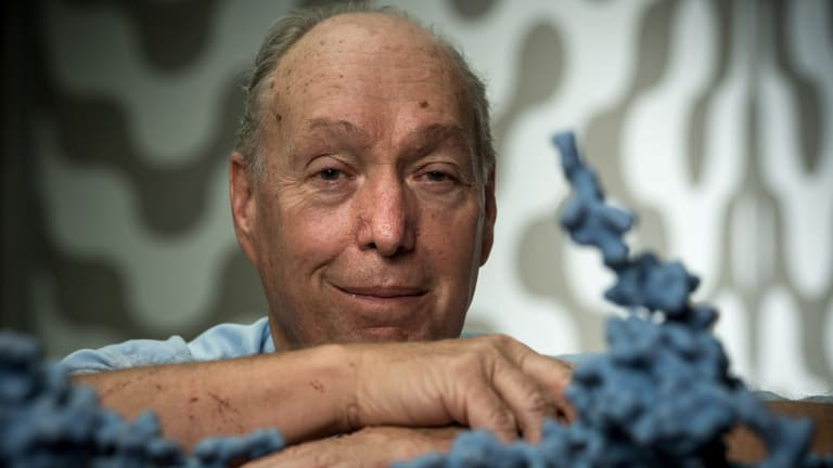 Professor Colin Masters at the Florey Institute was part of the research team that developed the blood test for amyloid beta build up.