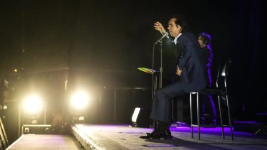 Nick Cave plays the Brisbane Riverstage on Wednesday night.