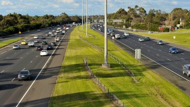 A rail line had been proposed for the middle of the Eastern Freeway.