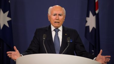 Former prime minister John Howard defends his role in the 2003 invasion of Iraq on Thursday.
