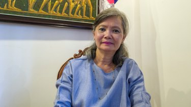 Mu Sochua, vice-president of the opposition Cambodia National Rescue Party.