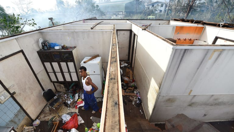 Cyclone Pam blew the roof off many homes.