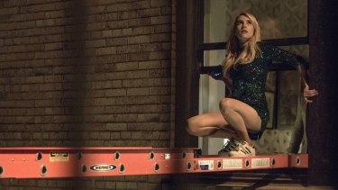 Vee (Emma Roberts) pushes the limits in <i>Nerve</i>.