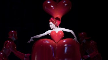 Amy Harris as The Queen of Hearts in the Australian Ballet's  <i>Alice's Adventures in Wonderland</i>.