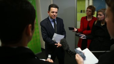 Senator Nick Xenophon speaks to the media in Melbourne on Friday.