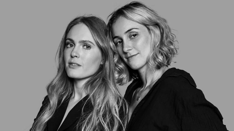 Carly Warson (left) and Stephanie Korn, founders of The Fold swimwear, started their label when they couldn't find swimwear to suit their own bodies.