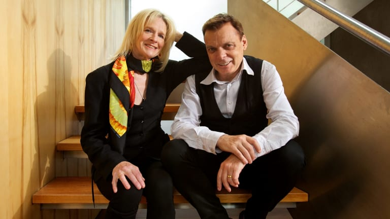 Word perfect: Anne Buist and Graeme Simsion at home in Melbourne's Fitzroy.