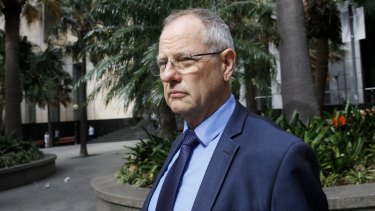 Trinity Grammar School deputy headmaster Peter Green after giving evidence at the royal commission on Friday.