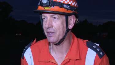Tragic: David King from the Hawkesbury unit of State Emergency Service.