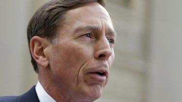 Former CIA director David Petraeus.
