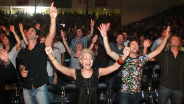 A Planetshakers religious service.