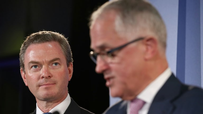 Industry, Innovation and Science Minister Christopher Pyne and Prime Minister Malcolm Turnbull launch the government's innovation policy.
