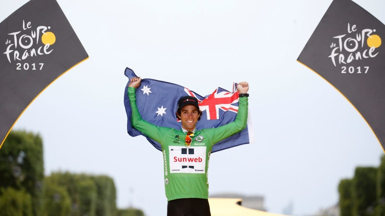 Michael Matthews was named the ACT male athlete of the year after winning the Tour de France green jersey.
