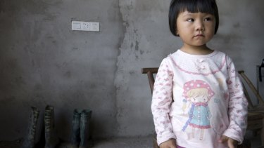 Two-year-old Xu Yilin. A lawsuit filed by residents of her town claim a chemical plant is responsible for high levels of lead in the blood of their children.