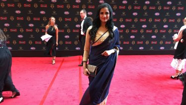 AFL diversity ambassador Preeti Daga stunned in a sari.