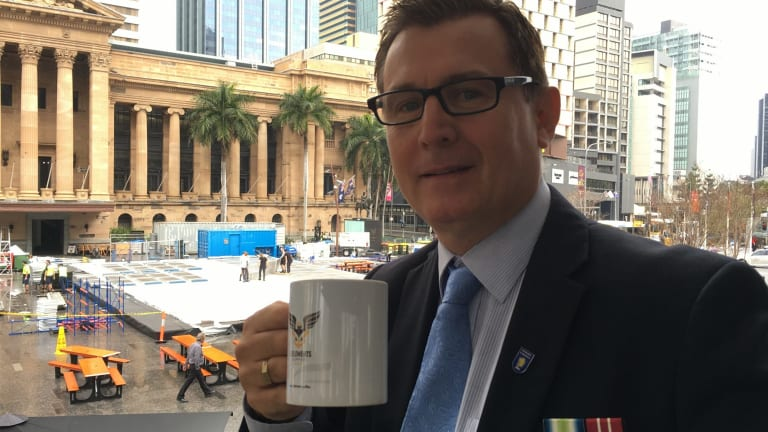 3 Elements Coffee founder and ex-serviceman Terry McNally launched the Allied brew in Brisbane on Tuesday.