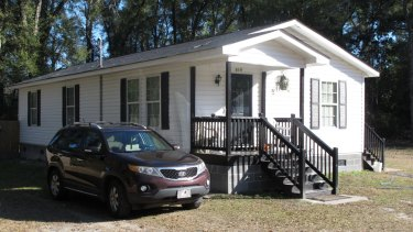 The house in South Carolina where Gloria Williams lived for years with a girl that authorities say was kidnapped as an infant 18 years ago from a hospital in Florida.