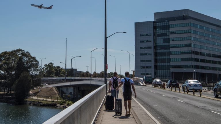 By walking to the airport from nearby Wolli Creek, Tom and Andrew made savings of over $27.