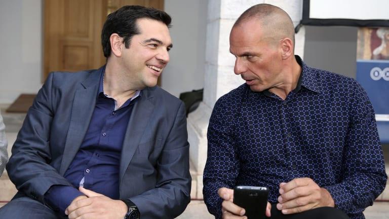 Varoufakis speaks with Greece's new Prime Minister Alexis Tsipras.