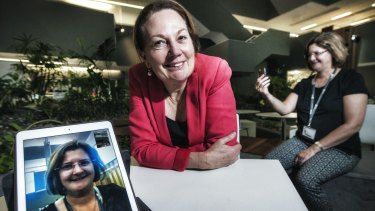 Professor Debra Anderson, pictured on the left and Amanda McGuire, who is a registered nurse and QUT researcher, have developed a virtual way of interaction to help women under 40 improve their health post cancer.