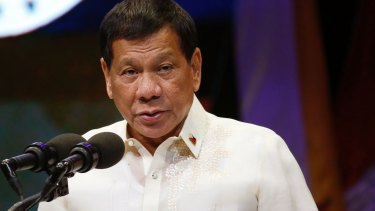 """""""My orders are to kill you if you are caught and I will protect the police who kill you,"""" Philippine president Rodrigo Duterte said he told his son."""